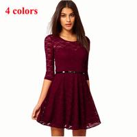 New spring 2014 vestidos de festa women lace renda dresses casual knee-length praia saias roupas femininas fiesta osklen dr58