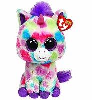 Free Shipping Original TY Beanie Boo Big Eye Animals Kids Plush Toys Wishful Unicorn Stuffed Dolls For children Gifts 15CM