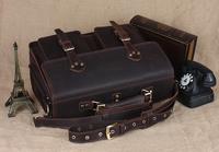 "Men 16"" laptop bag leather handbags designers brand high quality large carry on bag for business sport TIDING 11021"