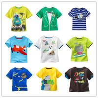 In stock 2014 New Children T-shirt boys Tees Short sleeve shirts Summer Kids Tops Cartoon Baby Boy Clothing Cotton Top Quality