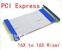2PC 21CM  Bitcoin Mining 19cm PCI-E 16X Slot Riser Extender Card Extension Ribbon PCIe Express Flex Relocate Cable Free Shipping