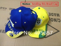 2014 Brazil World Cup soccer fans supplies cotton sports cap hat souvenir cap
