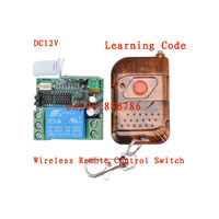 Wholesale DC 12v 10A relay 1CH wireless RF Remote Control Switch Transmitter+ Receiver+Case Free Shipping