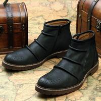 Male 2014 Genuine Leather Fashion Fashion Trend Martin Boots Casual Boots