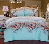 Promotion  CVCBed linen/Sheet/Bedding/ High Quality Velvet Fabric, CVC-Cotton, 4 PCS Bedding sets /Bed Sheet/Wholesale/