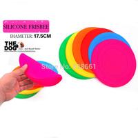 Free shipping dog toy Silicone Soft Frisbee unbreakable and foldable dog UFO toys