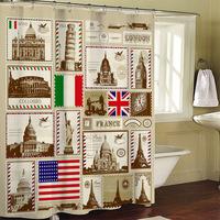 WORLD POST STICKERS  bathroom shower curtain terylene bath curtain 178x176 ,screen shower,curtain bath