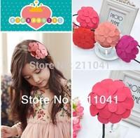 Free Shipping 2014 big flower hair band hair accessory for girlds kids headband flower GHN-0168
