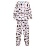 Fashion Cartoon Print Children Clothing Pajamas Set Size 100-140 cm Cute Style Tops + Pants Kids Cotton Suit