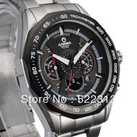 CASIMA men sports racing waterproof quartz watch Complete Calenda chronograph stainless steel watch 8206