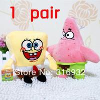 J1 Bob sponge toys pink Patrick spongebob sponge bob squarepants plush stuffed toy best gift 2014  Free shipping