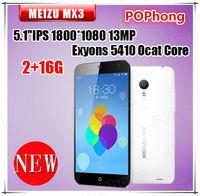 5.1 inch IPS 1800*800 Original meizu mx3 2G RAM Exyons 5410 Octa Core single sim android phone