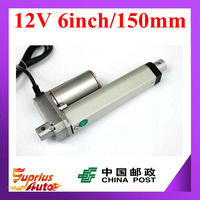 Free Shipping 12V,150mm/ 6 inch stroke, 900N/90KG/198LBS load linear actuator send by China Post