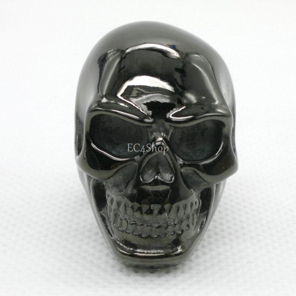 1 Lot 5 PCS Men's Black Silver Gold Punk Huge Biker 316L Stainless Steel Skull Knuckle Ring Day of the Dead Dia de los muertos(China (Mainland))