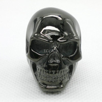 1 Lot 5 PCS Men's Black Silver Gold Punk Huge Biker 316L Stainless Steel Skull Knuckle Ring Day of the Dead Dia de los muertos