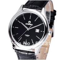 CASIMA men business elegant quartz watch  Auto Date waterproof leather watch 5107