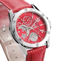 CASIMA women fashion waterproof watch moon phase digital Complete Calendar luminous leather watch SP-2805
