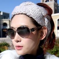 4 pieces/lot fashion knit women head band felt winter warm hair band crochet hair accessories girls headwear