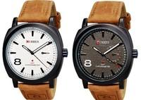 2014 Brand Curren 3ATM Waterproof Luminous Quartz Business Mens Watches Fashion Military Army Vogue Wrist watch Black & White