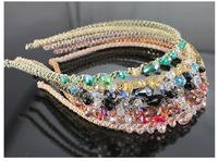 6 pieces/lot fashion crystal hair band rhinestone headbands for girls headwear women trendy hair accessories jewelry