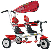 Buggiest baby stroller twins double child tricycle bike double seats baby tricycle buggiest 2014 hottest selling bike
