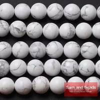 "Wholesale !!!! 16"" white Turquoise Round Beads 6/8/10/12/14mm Pick Size Freeshipping"