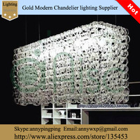 2014 Cheap Brief Chandelier Dining Room Chandelier Glass Crystal Rectangle Chandelier
