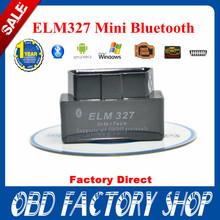 Fábrica 100% Price2014 New SUPER MINI ELM327 Bluetooth OBD2 V2.1 Preto Smart Car Diagnostic Interface de ELM 327 sem fio ferramenta de verificação(China (Mainland))