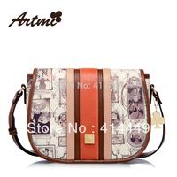 New 2014 Artmi spring fashion brand design messenger bag handbag fashion women's vintage print messenger bag small Free Shipping