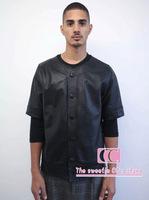 Fashionable full snakeskin t shirts for men / Hip hop Crocodile baseball uniform / Black short-sleeve Cardigan M-L-XL-XXL-XXXL