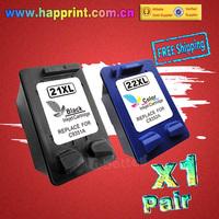 Inkjet Printer refillable Ink Cartridge for HP 21 22 21XL 22XL C9351A C9352A hp21 hp22 F380 F2100 F2280 F4100 F4180... (1Pair)