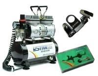 U-STAR U-602G Mini Air Compressor + U-STAR Black Eagle Series U-2 Airbrush