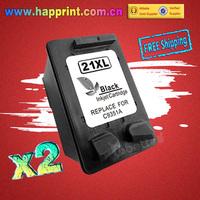 Inkjet Printer Refillable Ink Cartridge for HP 21 21XL C9351A  hp21 F380 F2100 F2280 F4100 F4180 3910 3920 3930 3938 D1560.(2PK)