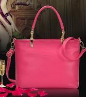 2014 HOT Sale Black Leather Fashion Luxury Lady Ladies Women's Messenger Bags Woman Shoulder Handbag Bag Freeshipping