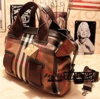 fashion women message bag canvas plaid vintage high quality handbags of famous brands designers totes shoulder bags cross body