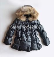 Down coat medium-long girls clothing down coat windproof thread cuff