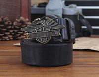 100% genuine leather New 2014 Men Vintage Belt Brand Retro Classic Metal Letter Buckle Punk Belt Strap Cinto Ceinture MBT0142
