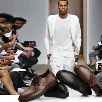 Men fashion commercial genuine leather shoes men low heeled lace-up flats shoes