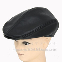 Free shipping Sheepskin beret cap quinquagenarian male autumn and winter hat genuine leather hat