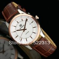 ZHISHI men quartz business watch  sapphire glass surface leather men's elegant watch z8802