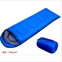 outdoor camping sleeping bag Envelope hoodeds spring summer and autumn camping sleeping bag lunch