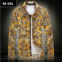2014 New Male Shirts Cotton Flower Popular Men's Clothing Plus Size M-4xl 5xl (chest 130cm) Man Shirt Free Shipping xxxxl xxxxxl