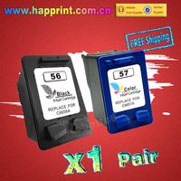 Inkjet Ink Printer Cartridge for hp 56 57 C6656A C6657A HP Deskjet 450 450cbi 450ci 450wbt F4140 5150 5550...(1Pair = 2PK)