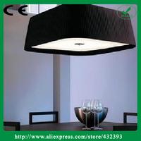 American Style Modern Brief fabric Lampshade Chandelier E27 Light Source Led Light Fixture Black Pendant Modern Black Led Light