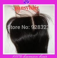4x4 Bleached Knots PansyHair Right Part Lace Closure Peruvian with Baby Hair 2and3 Way Closure Peruvian Virgin Hair Closure Tops