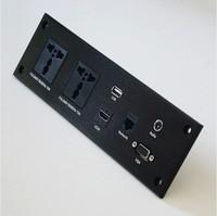 Informatiom and multi-function penal desktop socket,USB  socket