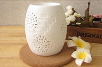 Beautiful hand maded white ceramic incense burner arome burner