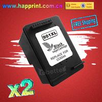 Refillable Ink Printer Inkjet Cartridge for hp901 HP 901 901XL black CC653AN for hp Officejet 4500 4600 J4550 J4580 J4680. (2PK)
