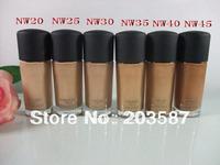 Free shipping 6pcs\lot Best selling Professional brand makeup high quality Liquid Foundation studio spf15 30ML NW Set
