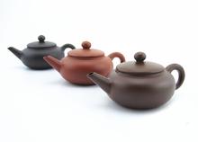 Hot selling! 100% handmade 40ml Mini Chinese purple clay puer teapot 3 colors zisha tea pot Yixing China purple sand portable